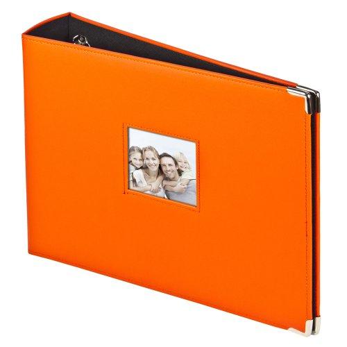 3-Ring Photo Binder Album With Sewn Leatherette Frame, Acid-Free, 12 x 12