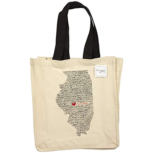 Primitives by Kathy Home State Pride Tote Bag, Illinois ()