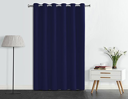 Onlyyou Room Divider Curtain Darkening Drapery Panel Thermal Blackout Curtain Insulated Drapes - 1 Panel 80 x 84 Inch, Blue Navy