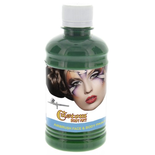 Custom Body Art 8-ounce Emerald Water Based Airbrush Body Art & Face Paint