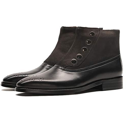 Los Cremallera Talladas Cómodos De Zapatos Botines Botas Casual Cuero Black Negocios Trabajo Martin Chelsea Hombres up I6ABnPI