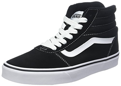 Vans Mens Ward Hi Low Top Lace Up Fashion Sneakers, Black/White, Size - Hi Vans Tops