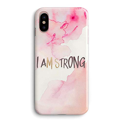 (iPhone XR Case Girls Women Life Cute Bible Verses Women Quotes Christian Inspirational Motivational Tie Dye Pink Ms Strong Im Strong Lord Christ Soft Clear Side Case Compatible for iPhone)