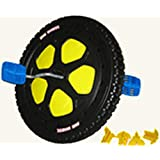 """BLACK FRONT WHEEL 16"""" Diameter Replacement Parts Kit Assembly for The Original Big Wheel WITH Pedal Washer"""