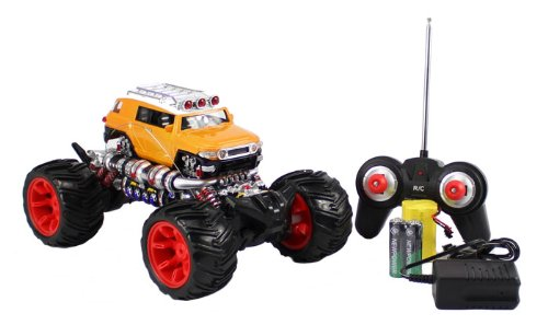 ((Colors May Vary) 4WD Cross Country 1:16 Scale Big Size RC Toyota FJ CRUISER Full Function Remote Control Monster Truck w/ Rechargeable Batteries RC CAR)