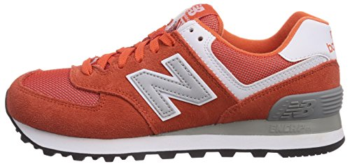 888546369719 - New Balance Men's ML574 Picnic Pack Collection Classic Running Shoe, Orange/Silver, 11.5 D US carousel main 4
