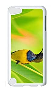 Ipod 5 Case,MOKSHOP Adorable bird wildlife Hard Case Protective Shell Cell Phone Cover For Ipod 5 - PC White