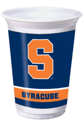 Creative Converting Syracuse Orange Printed Plastic 20 oz. Cups (8 Count) ()
