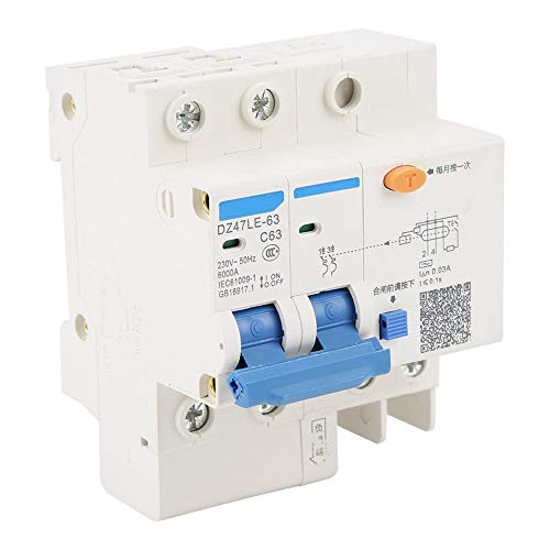 残留電流遮断器DZ47LE-63 2P + N C63 RCCB残留電流遮断器230V 63A 30mA