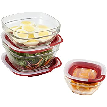 Rubbermaid Easy Find Lid Glass Food Storage Container, 6-Piece Set (2856010)