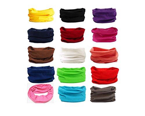 Multifunktionstuch, Kopftuch, Stirnband , Motorrad Halstuch, Bandana viele Farben (Blau)