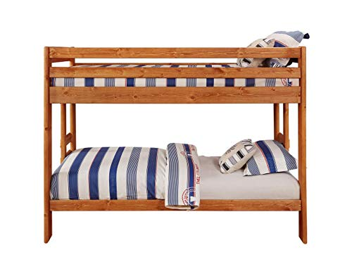 Wrangle Hill Twin over Twin Bunk Bed Amber Wash