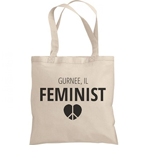 Feminist Gurnee, IL Tote Bag: Liberty Bargain Tote Bag (City Of Gurnee Il)