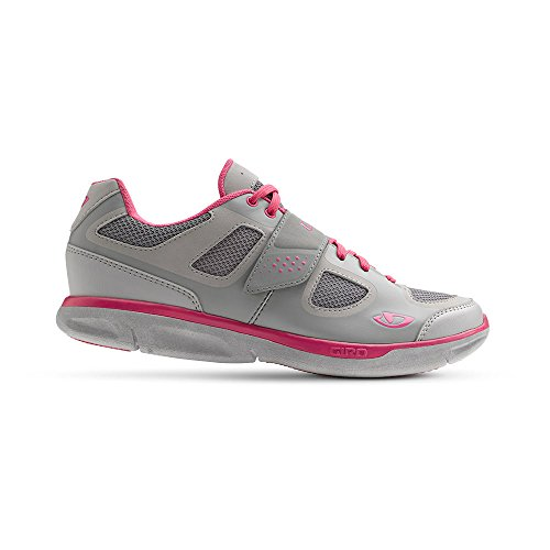 Giro Whynd Womens Road Cycling Shoes Silver/Rhodamine Red 38