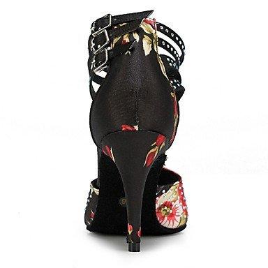 black Negro de Zapatos baile Tacón Personalizables Stiletto Latino qaAp6