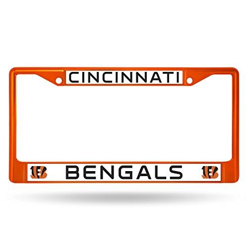 NFL Cincinnati Bengals Colored Chrome Plate Frame, Orange Cincinnati Bengals License Plate Frame