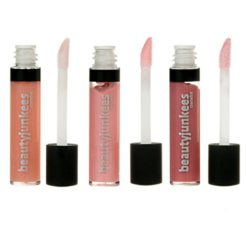 Matte Shimmer Lip Gloss Set - 3 Piece Minis Kissable Collection, Long Lasting Sheer Lipgloss, Mint Flavored Moisturizing Shine, All Natural Paraben Free, Gluten Free, Cruelty Free, Made in the USA