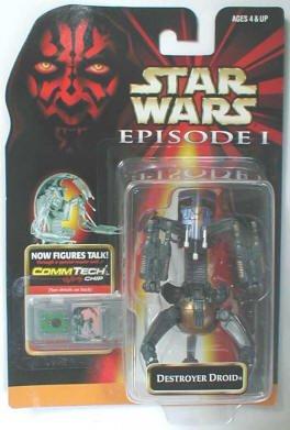 Star Wars Episode I Battle Damaged Destroyer Droid Action Figure
