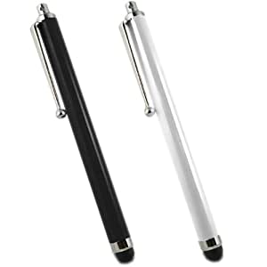 SAMRICK lápiz capacitivo de aluminio y lápiz capacitivo para HTC Inspire 4 G - negro/blanco (2 unidades)