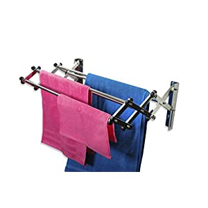 Aero-W Stainless Steel Folding Clothes Rack (45lb Capacity, 11 Linear Ft)