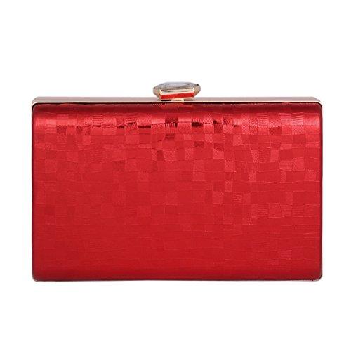 Red Womens Snap Damara Medium Rhinestone Metal Handbag Square Clutch 8qOvwqF