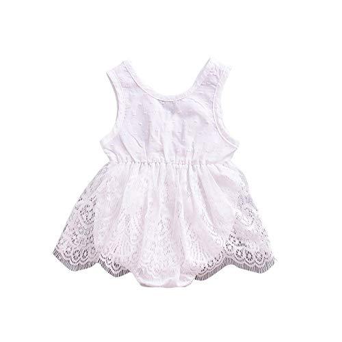 CAIYCAI 2019 Cute Cute Baby Girl Dress Lace Sleeveless Newborn Baby Infant Baby Girls Princess Dress,White,24M]()