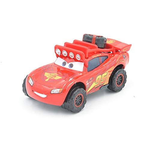 Disney Disney Pixar Cars 2pcs No.95 SUV Lightning McQueen and Idle Threat Big Wheel Brown Beach Buggy Diecast Alloy Model Cars Toys SUV ()