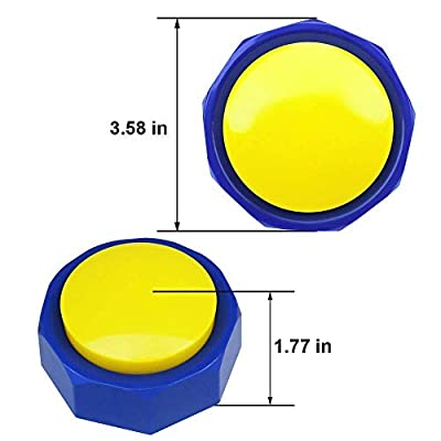 Joy Recordable Button, Sound Button, 30S Recording, Quality Upgrade, Louder, More Resistant to Fall, Contains Two AAA Batteries (Yellow Blue): Toys & Games