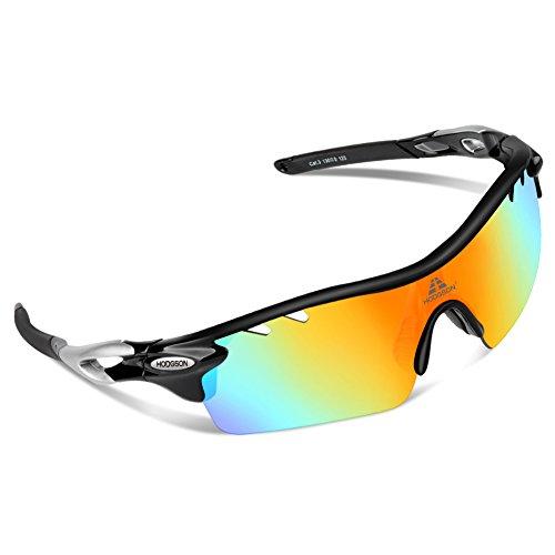 HODGSON Fahrradbrille Sport Sonnenbrille für Herren und Damen Polarisierte, Sportbrille mit 5 Wechselobjektiven und Frauen Radsports, Baseball, Laufengläser, Tr90 unzerbrechlich