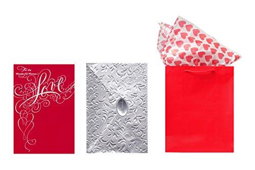 Hallmark Valentine's Day Card w/ Gift Bag & Tissue Paper