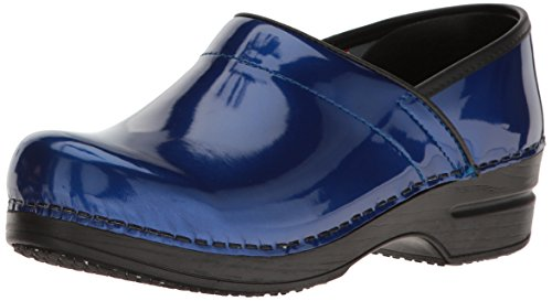 Sanita Women's Smart Step Sabel Work Shoe, Blue, 39 EU/8/8.5 M (Blue Womens Clogs)