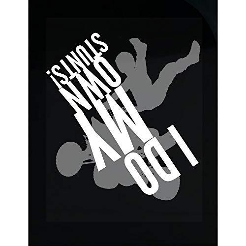 Americas Best Buys ATV Quad Biking I Do My Own Stunts Gift - Transparent Sticker