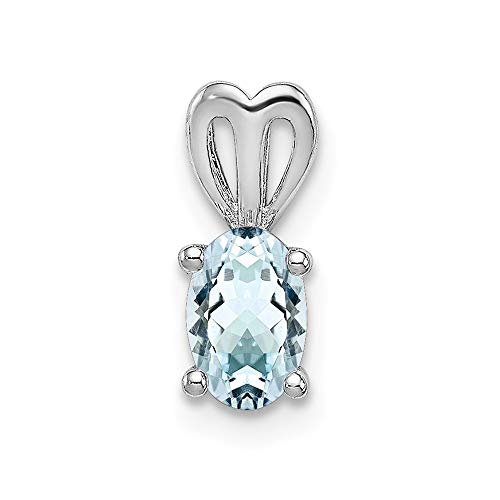 925 Sterling Silver Blue Aquamarine Pendant Charm Necklace Set Birthstone March Fine Jewelry Gifts For Women For -