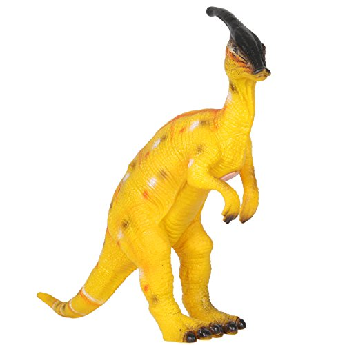 Pvc Soft Toy (Huang Cheng Toys 14 Inch Parasaurolophus Dinosaur Figure Jurassic Animal PVC Soft Touch Stuffed with Cotton)