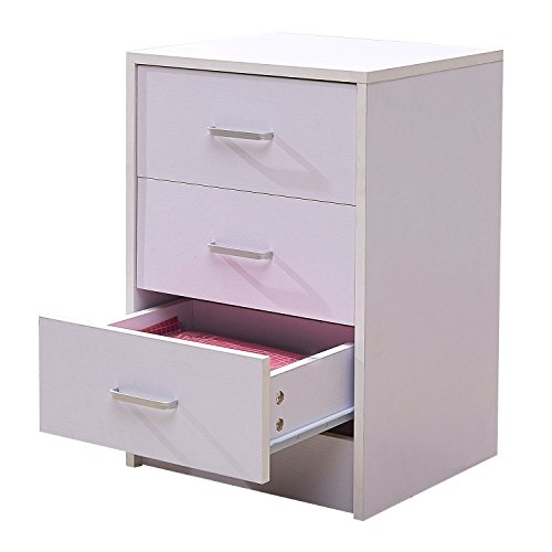 GreenForest Vertical File Cabinet 3 Drawers Wood for Home Office File Storage Under Desk Letter Size/A4 (White) by GreenForest