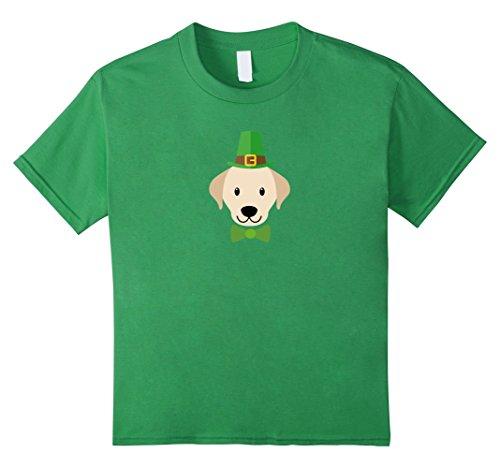 Kids St.Patrick's Day Leprechaun Golden Retriever T-Shirt 12 (Retriever T-shirt Tee)