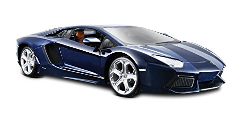 Diecast Metallic Blue Car (Maisto Lamborghini Aventador LP 700-4 Diecast Vehicle (1:24 Scale), Metallic Blue)