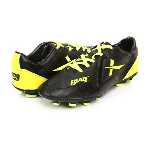KD Vector Football Shoes Soccer Turf Shoes World Cup Cleats Firm Ground Performance Velocity Studs(Blaze Black, UK05)