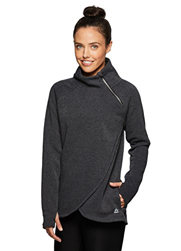 RBX Active Women's Zip Mock Pullover with Tulip Crossover Grey XL For Sale