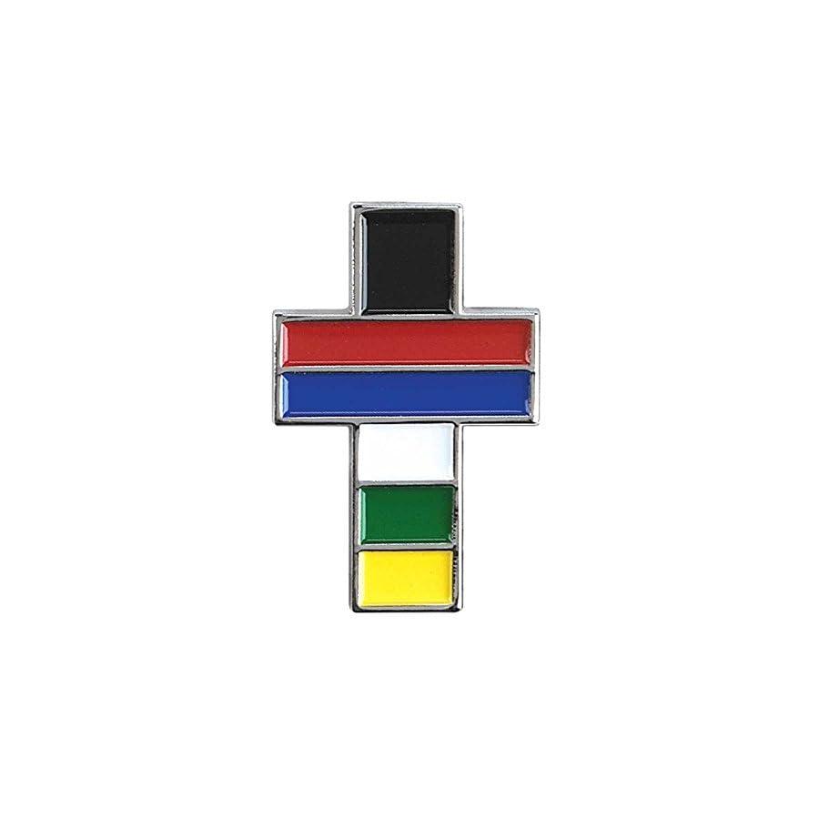 Plans of Salvation Cross Epoxy Lapel Pin