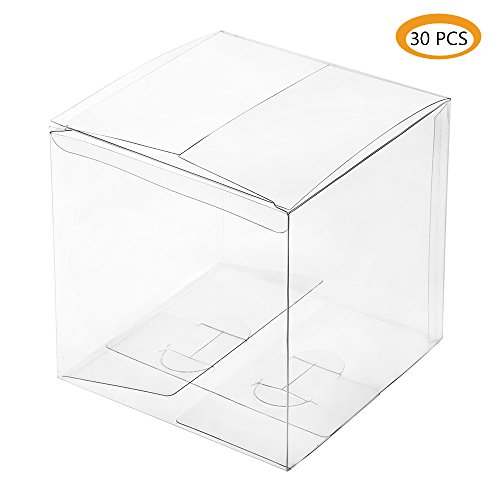 ZOOYOO Clear Gift Plastic Box for Party Favors, Weddings, Packaging - Rectangle 3.5x3.5x3.5inch - 30pcs by ZOOYOO