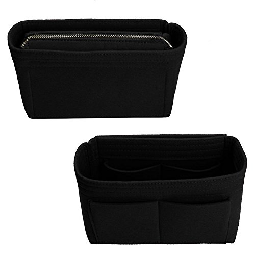 Purse Organizer,Bag Organizer,Insert purse organizer with 2 packs in one set fit LV NeoNoe Noé Series perfectly (Black) by ZTUJO (Image #2)