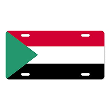 I Left My Heart in Oman Country Flag Chrome Metal License