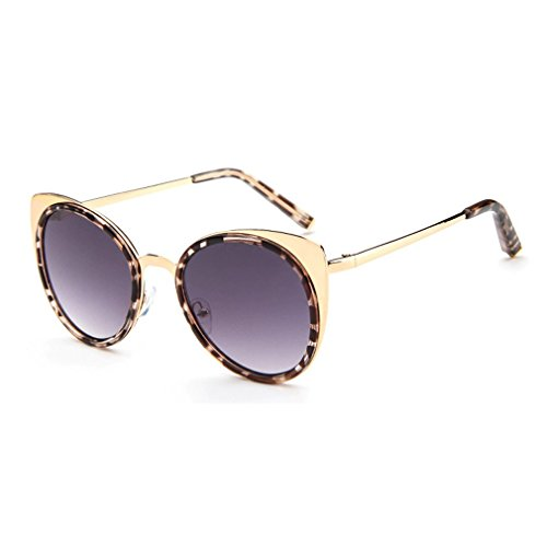 LOMOL 2016 New Womens Trendy Metal Frame Reflective Lens UV Protection Personality Cateye - Mean It Polarized For What Be Sunglasses To Does