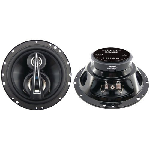 Lanzar MX63 Max Series 6.5-Inch 400-Watt 3-Way Coaxial Speakers (Pair)