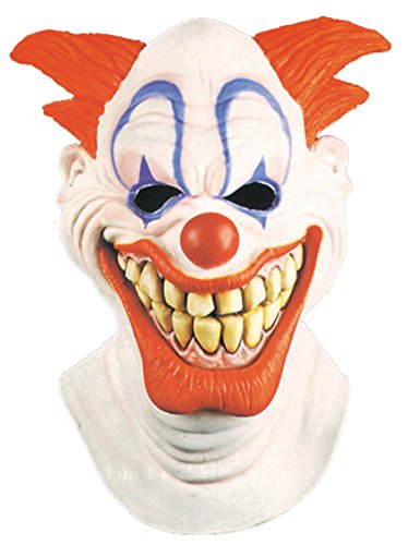 [Sinister Circus Scary Clown Horror Latex Adult Halloween Costume Mask] (2 Person Halloween Costume)
