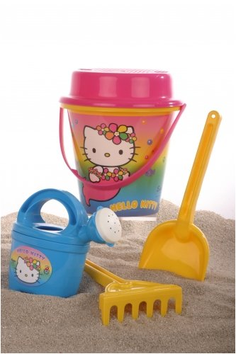 Androni Giocattoli S.R.L. Hello Kitty Bucket (6-Piece, Set of 15) ()