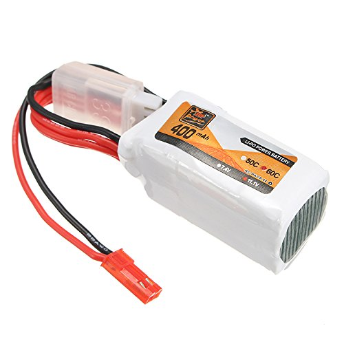 MAUBHYA ZOP Power 11.1V 400mAh 60C 3S Lipo Battery JST Plug by MAUBHYA