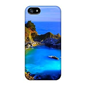 Faddish Phone Coastal Waterfalls Case For Sam Sung Galaxy S4 I9500 Cover / Perfect