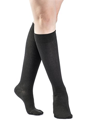 SIGVARIS Women's CASUAL COTTON 146 Calf High Compression Socks 15-20mmHg